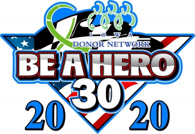 Joey Gase and Hawkeye Downs team up to promote organ, eye and tissue donation for the Be a Hero 30