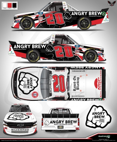 NASCAR Driver Spencer Boyd Welcomes Highly Caffeinated Angry Brew Coffee as Sponsor