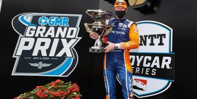 Dixon Runs Away from Field for Breakthrough Victory on IMS Road Course in GMR Grand Prix