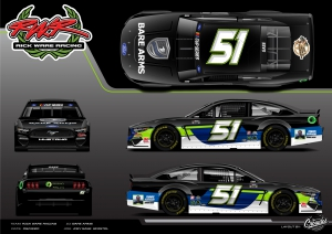 Joey Gase and Rick Ware Racing Partner with Bare Arms and Legacy Charitable Fund Under the Lights in Bristol