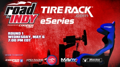 Tire Rack to Headline Second Road to Indy iRacing eSeries