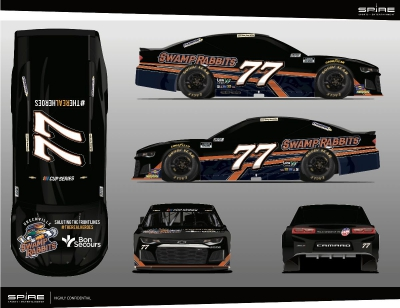Greenville Swamp Rabbits, Bon Secours Featured Aboard Spire Motorsports No. 77 Chevy in Darlington Return