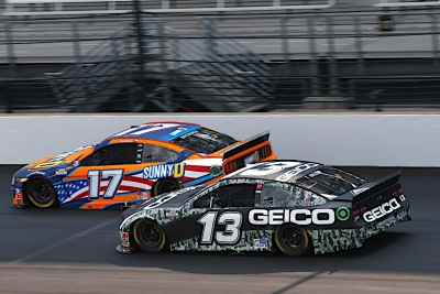 Early Pit Road Incident Ends Buescher's Chances Early in Indy