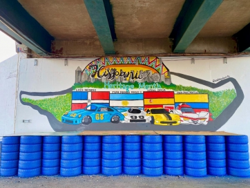 Michelin Raceway Road Atlanta Mural Celebrates Hispanic Heritage Month