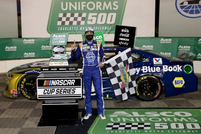 Fortune finally favors Chase Elliott in NASCAR Cup Series win at Charlotte