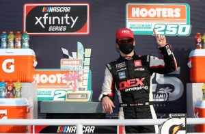NXS: Harrison Burton wins Xfinity Series race at Homestead in late restart