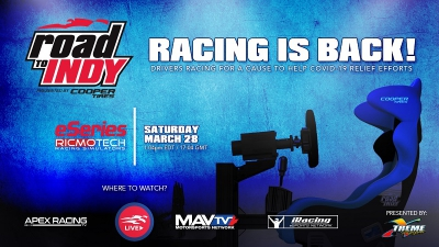 Ricmotech Road to Indy Presented by Cooper Tires iRacing eSeries Announced