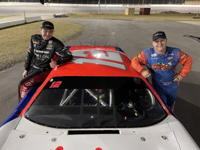 Bergeron tests in preparation for Speedweeks at New Smyrna Speedway