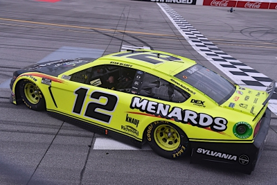 Ryan Blaney wins by inches on emotional day at Talladega