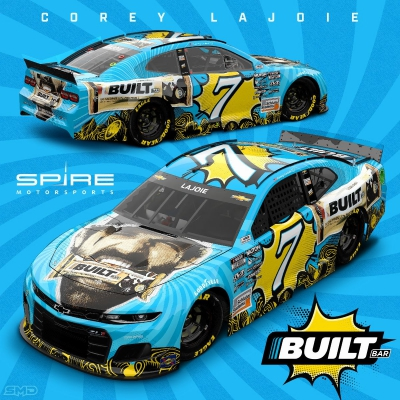Spire Motorsports to Showcase Built Bar Aboard LaJoie's No. 7 at LVMS