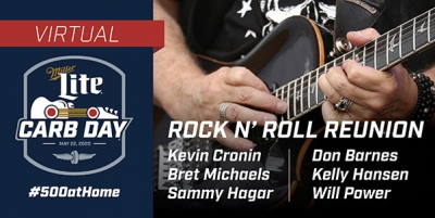 Rock Legends Meet, Perform Virtually To Give Miller Lite Carb Day Spirit to Indy 500 Fans