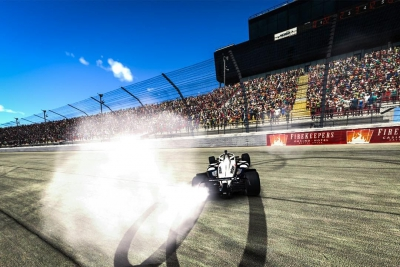 Simon Pagenaud wins first oval race of NTT INDYCAR SERIES IRacing Challenge