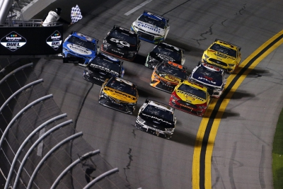 Aric Almirola Wins Duel 1 at Daytona to Claim Second Row Starting Spot