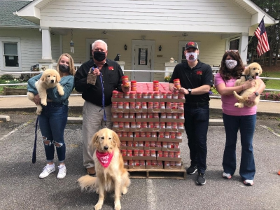 Georgia Peanut Commission and Alfredo Make Peanut Butter Donation To Canine Assistants