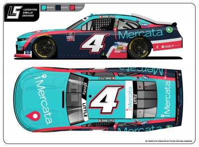 Jesse Little partners with supply chain technology firm iMercata for Saturday's O'Reilly 300 at Texas