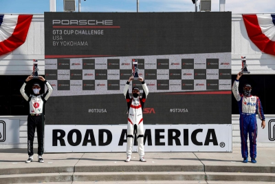 Dickinson Scores Surprise Porsche GT3 Cup Challenge USA by Yokohama Victory at Road America