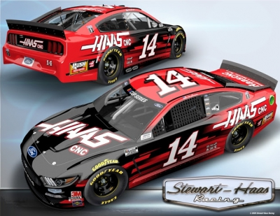 Clint Bowyer No. 14 Haas Automation Ford Mustang Ready for Atlanta